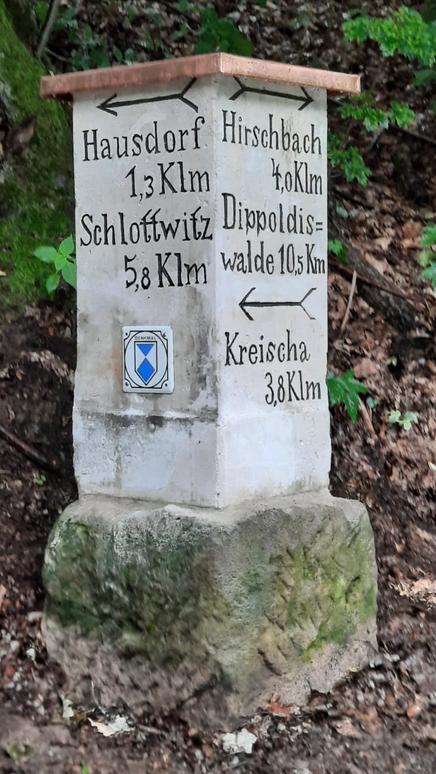 Historische Wegsäule am Mühlenweg